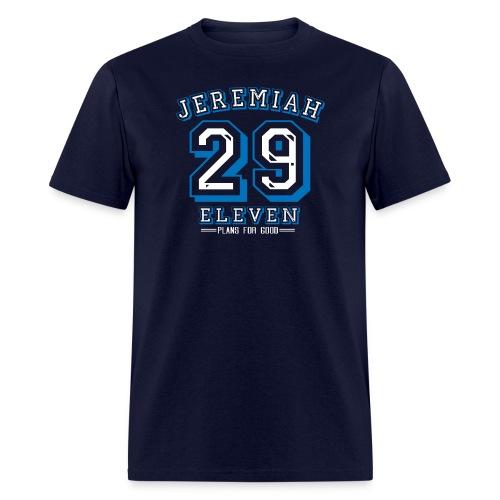 Jeremiah 29:11 Plans for Good Blue/White Design - Men's T-Shirt