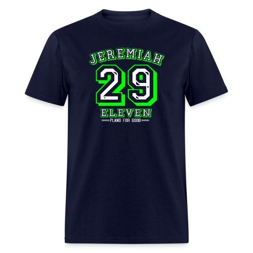 Jeremiah 29:11 Plans for Good Green/White Design - Men's T-Shirt