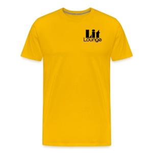 Men's Double Black Logo T-Shirt - Men's Premium T-Shirt