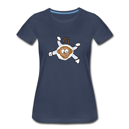 Monkey Dark Blue - Women - Women's Premium T-Shirt