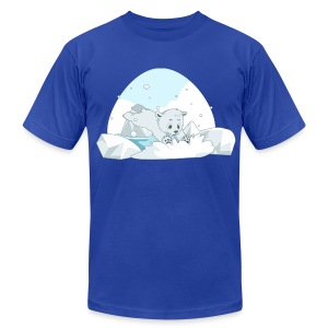 Polar Bear - Men's T-Shirt by American Apparel