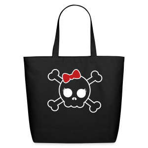 Skull Bow Eco Friendly Cotton Tote - Eco-Friendly Cotton Tote
