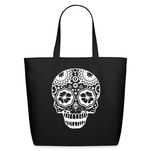 Sugar Skull Eco Friendly Cotton Tote - Eco-Friendly Cotton Tote