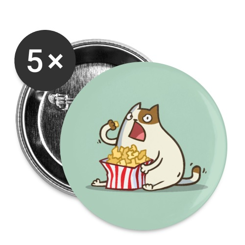 Friday Cat №5 - Large Buttons