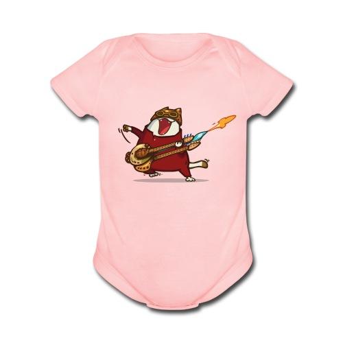 Friday Cat №9 - Organic Short Sleeve Baby Bodysuit