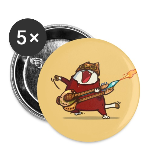 Friday Cat №9 - Large Buttons