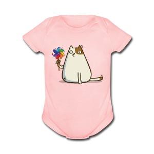 Friday Cat №10 - Short Sleeve Baby Bodysuit