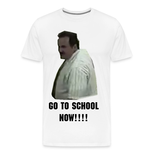 Go to School Now Men's T-Shirt - Men's Premium T-Shirt