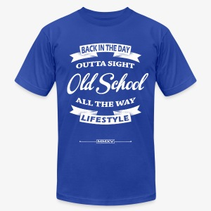 old school label - Men's T-Shirt by American Apparel