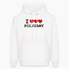 i heart polygamy free love fun sex hippie Hoodies