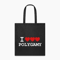 i heart polygamy free love fun sex hippie Bags & backpacks