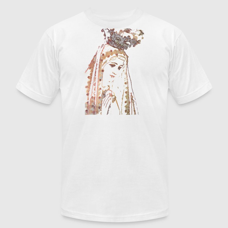 Our Lady of Fatima Mary T-Shirts - Men's T-Shirt by American Apparel