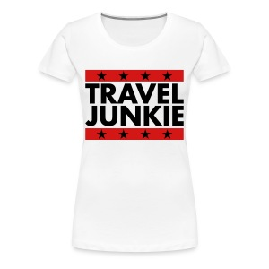 Travel Junkie - Women's Premium T-Shirt