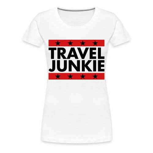 Travel Junkie - Women's Premium T-Shirt