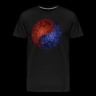 T-Shirts ~ Men's Premium T-Shirt ~ Blue Red Demon Yin Yang Shirt