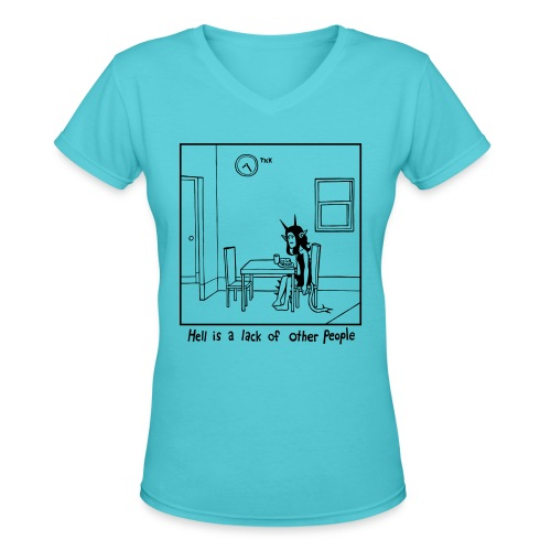 Other People (women's) - Women's V-Neck T-Shirt
