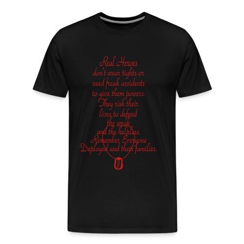 Men's Real Heroes T-Shirt - Men's Premium T-Shirt