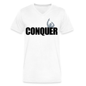 V-Neck T-Shirt Zyzz Conquer - Men's V-Neck T-Shirt by Canvas
