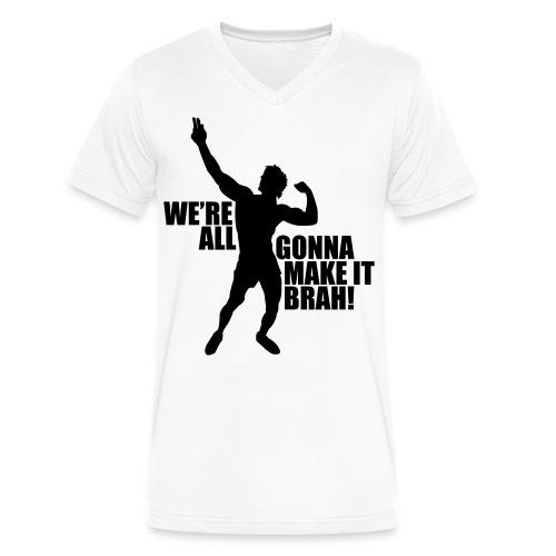 V-Neck T-Shirt Zyzz We're All Gonna Make It Brah - Men's V-Neck T-Shirt by Canvas