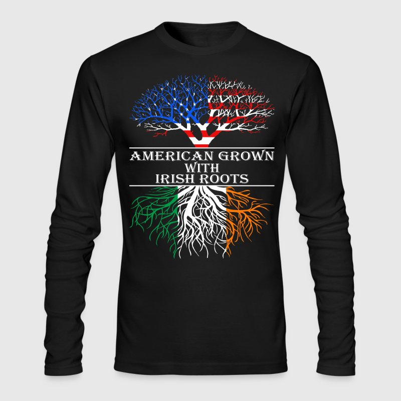 American Grown With Irish Roots - Men's Long Sleeve T-Shirt by Next Level