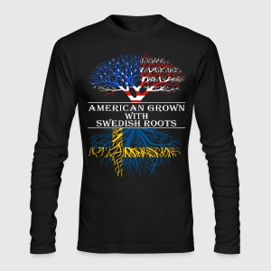 American Grown With Swedish Roots - Men's Long Sleeve T-Shirt by Next Level