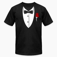 Collar with bow tie and rose from suit Shirt