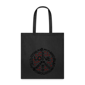 Love and peace in many language Tote Bag - Tote Bag