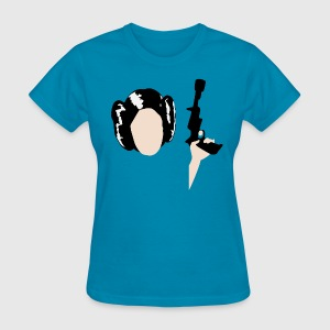 Princess Leia Organa with Blaster  - Women's T-Shirt