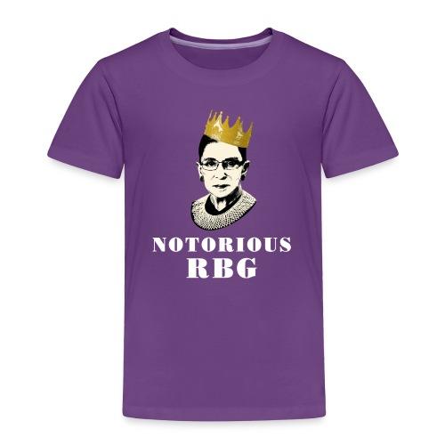 Toddler Notorious RBG T-shirt - Toddler Premium T-Shirt