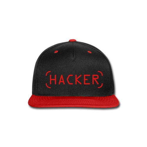 Hacker Cap - Red on Black - Snap-back Baseball Cap