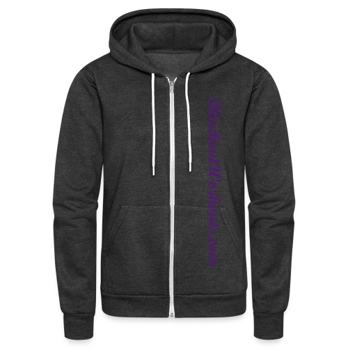 Unisex Fleece Zip Hoodie by American Apparel BlackoutWorkouts.com ( in multiple color possibilities ) - Unisex Fleece Zip Hoodie