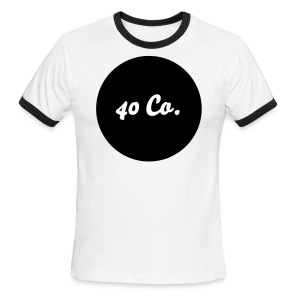 40 Co. Shirt [Black/Red] - Men's Ringer T-Shirt