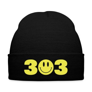 3O3 Beanie - Knit Cap with Cuff Print