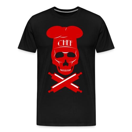 Men's Skull-Chef Tee - Men's Premium T-Shirt