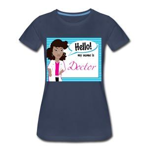 HelloUpdo Striped - Women's Premium T-Shirt