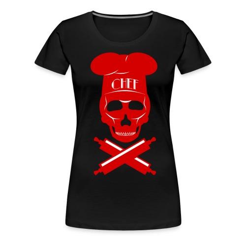 Women's Skull-Chef Tee - Women's Premium T-Shirt