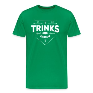Premium Tailor Made Tee - White on kelly green - Men's Premium T-Shirt