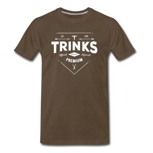 Premium tee - White on noble brown - Men's Premium T-Shirt