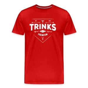 Premium Tailor Made Tee - White on red - Men's Premium T-Shirt
