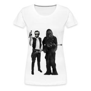 Han(est) Abe and Chewbacca - Women's Premium T-Shirt
