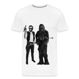 Han(est) Abe and Chewbacca - Men's Premium T-Shirt