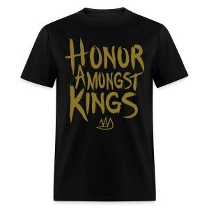Honor Amongst Kings Black/Metallic Gold - Men's T-Shirt