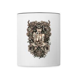 Tattooed Evil Girl - Contrast Coffee Mug