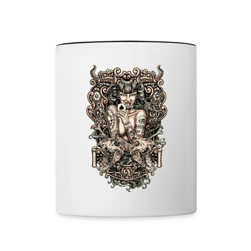 Tattooed Evil Girl - Contrast Coffee Mug