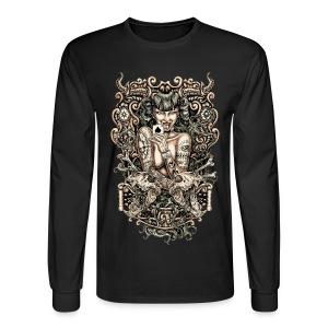 Tattooed Evil Girl - Men's Long Sleeve T-Shirt