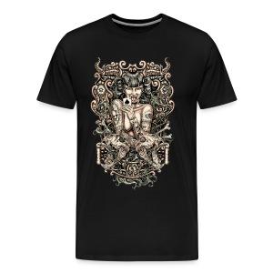 Tattooed Evil Girl - Men's Premium T-Shirt