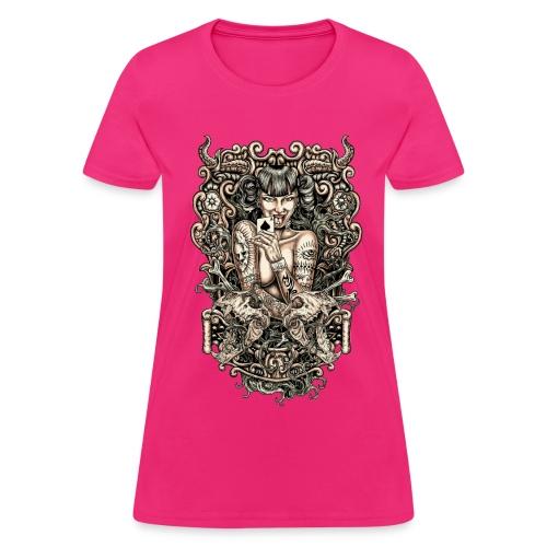 Tattooed Evil Girl - Women's T-Shirt