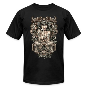 Tattooed Evil Girl - Men's T-Shirt by American Apparel