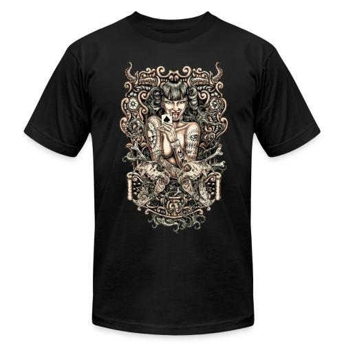 Tattooed Evil Girl - Men's Fine Jersey T-Shirt