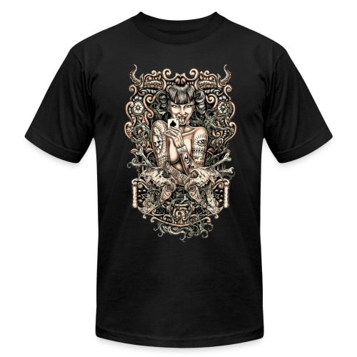 Tattooed Evil Girl - Men's  Jersey T-Shirt